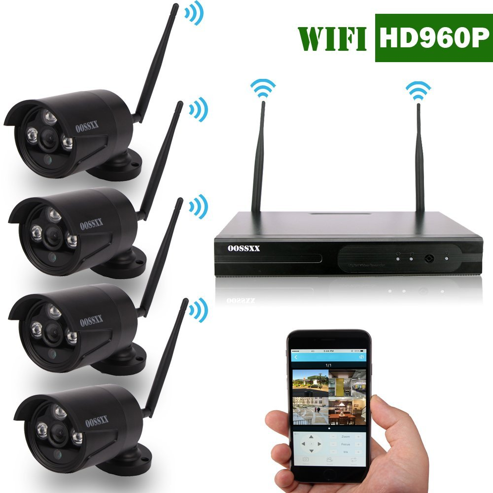 oossxx 8 channel hd 1080p wireless network ip security camera system ip wireless wifi nvr kits. Black Bedroom Furniture Sets. Home Design Ideas