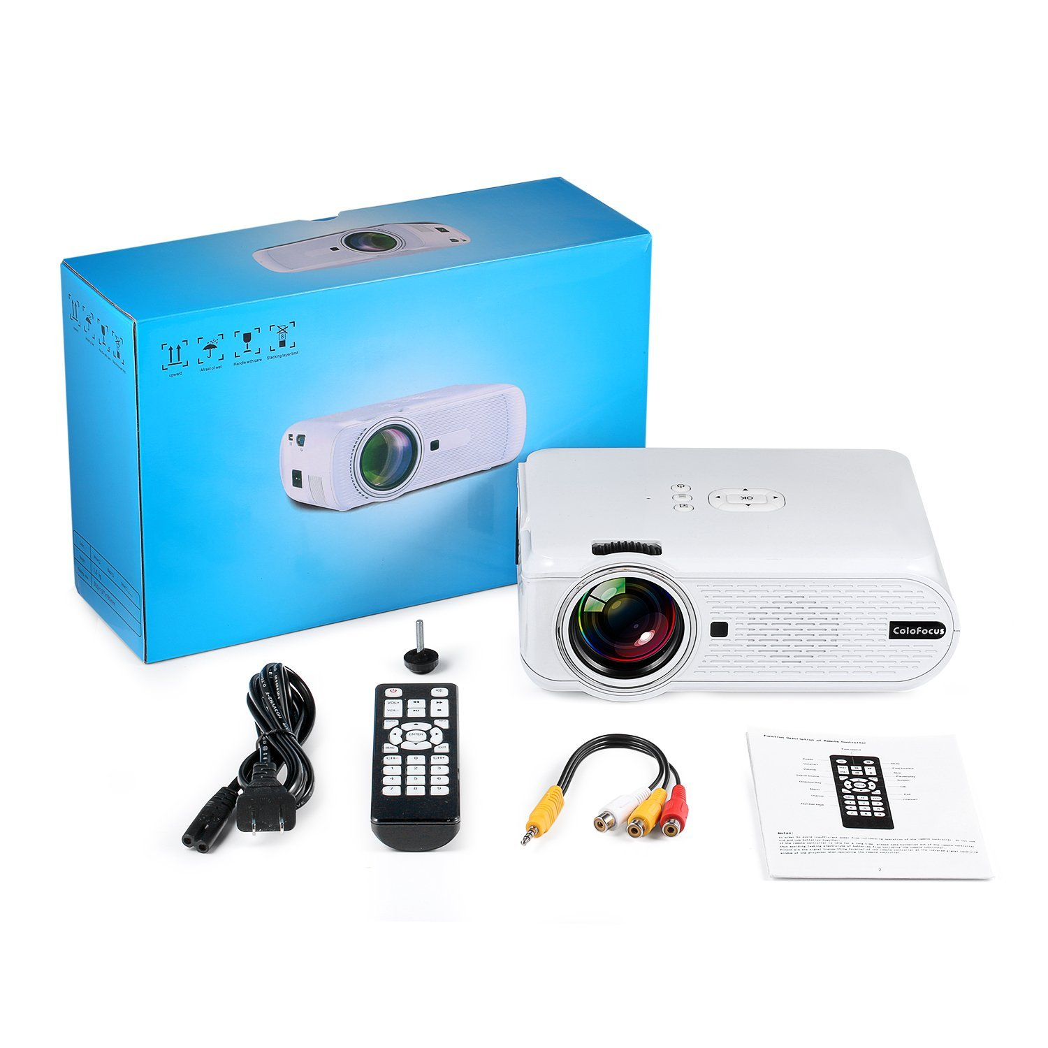 Hd projector home video mini projector with 1080p for Best mini projector for presentations